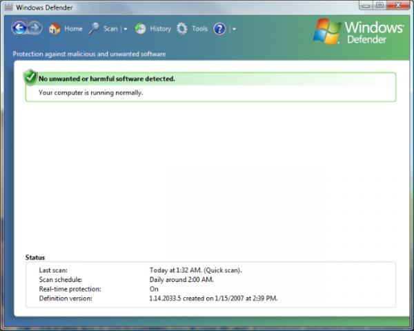 Windows_Defender_screenshot 1