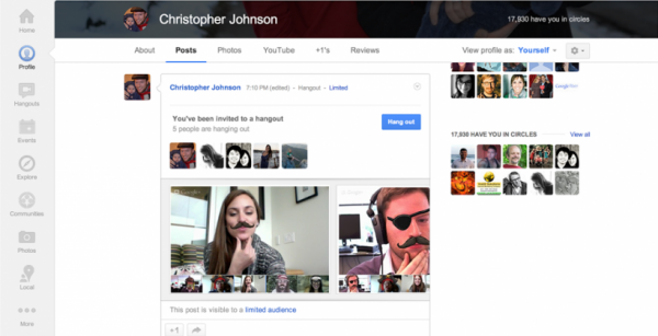 google hangout screen 1