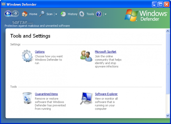 windows defender screen 3