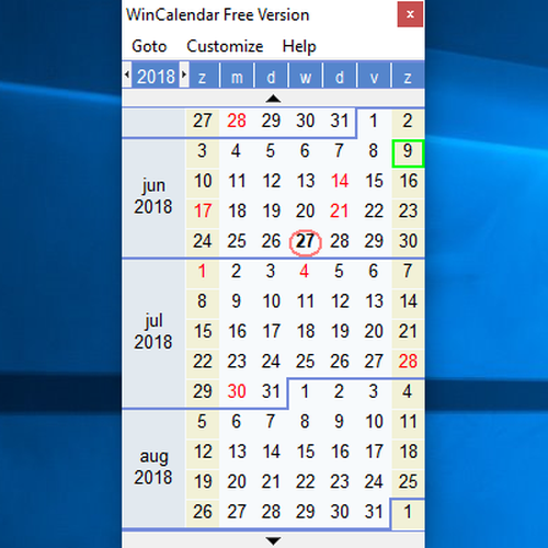 wincalendar download