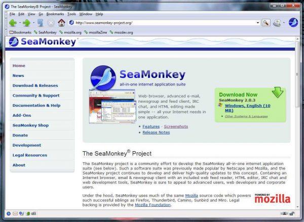 SeaMonkey download - Gratis SeaMonkey browser | Downen