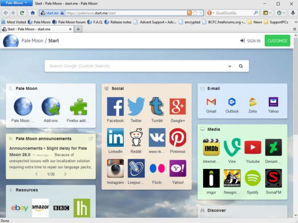 pale moon browser download